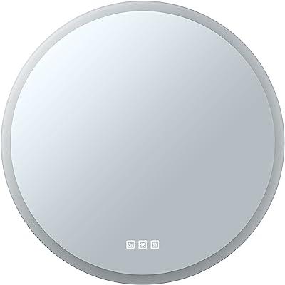 Paulmann HomeSpa 78952 Miroir lumineux LED Mirra avec interrupteur tactile IP44 600 mm Blanc 1 x miroir de salle de bain 21 W 2700 K – 6500 K Blanc