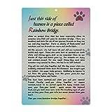 BeLifer Pet Sympathy Memorial Card - Rainbow Bridge Poem Card for a Pet Loss Dog Memorial Keepsake Gifts Card with Envelope Pet Remembrance Mourning Card