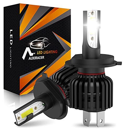 AUXIRACER Automotive Lighting H4 LED Lampadine per Fari 12000LM 6500K 60W Led Lampadine Auto LED, Fari e Fendinebbia IP65 Impermeabili (2 pezzi)