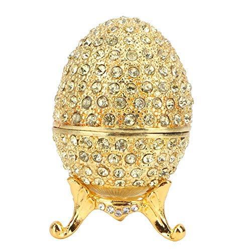 Oeuf de Pâques émaillé Bijoux Organisateur Faberge Style Vintage Oeuf émaillé Diamant Bijou boîte décoration Cadeau