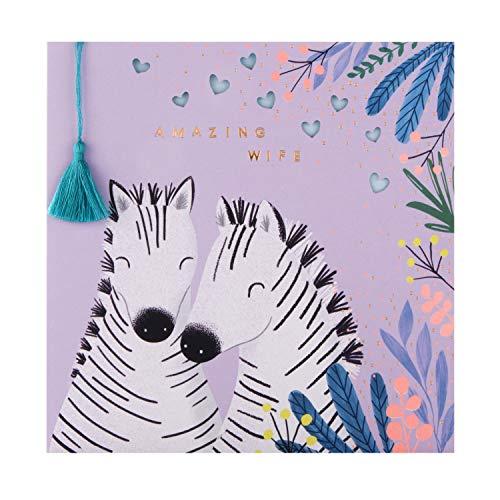 Verjaardagskaart voor vrouw van keurmerk - Embossed & Die-Cut Zebra Design