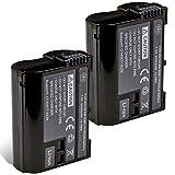 BM Premium 2 Pack of EN-EL15B Batteries for Nikon Z6, Z7, D780, D850, D7500, 1 V1, D500, D600, D610, D750, D800, D800E, D810, D810A, D7000, D7100, D7200 Digital Cameras