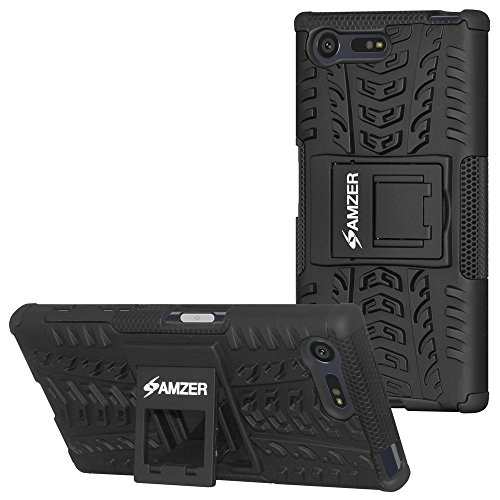AMZER Hybrid Warrior Dual Layer Slim Protective Shockproof Case for Sony Xperia X Compact - Black