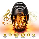 LED Flammenlichtlautsprecher, Djtanak Outdoor Bluetooth-Lautsprecher mit überlegenem Stereosound,...