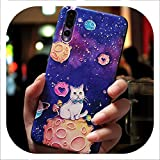 Cute Cartoon Patterned Phone Case for Huawei P20 P10 P9 Lite Pro Cases Ultra-Thin TPU Cover for Honor 8 9 10 Lite Mate 10,White Cat,for Mate 20