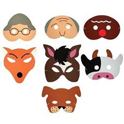 Teaching Resource Sack - Gingerbread Man Storytelling Mask Set (máscara/careta)