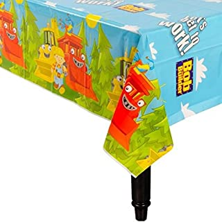 Bob the Builder Party Reusable Table Cover Tableware, Plastic, 54