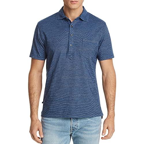 Oobe Mens Fairfield Striped Collared Polo Shirt Blue XXL