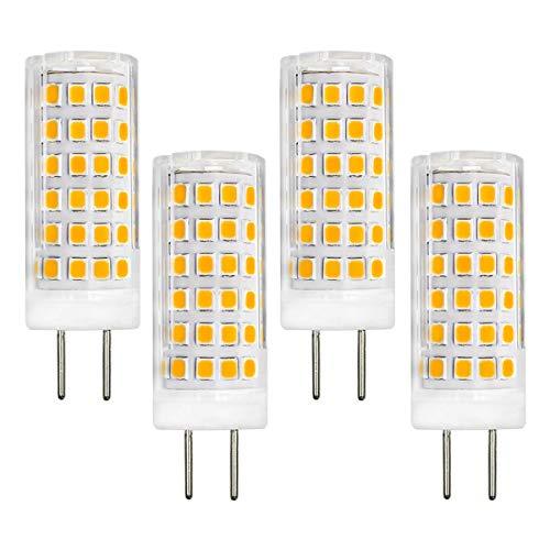 4W Bi-Pin Sockel GY6.35 LED-Glühbirnen AC/DC 12V Warmweiß 3000K die einer 40W-Halogen-Ersatzlampe entspricht für Minilampe 4er Pack.[MEHRWEG]