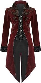 Tootess メンズゴシックレトロ中世タキシードビクトリア朝ブレザーコートジャケット