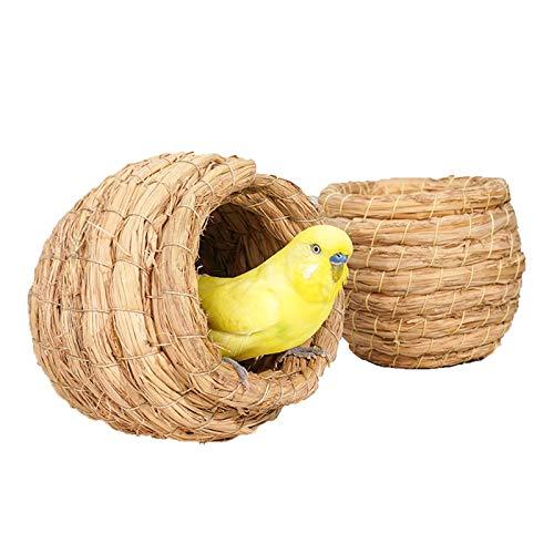 Nistkästen 2 Stücke Handgewebtes Garten-Vogelnest, eine Bequeme Ruhestelle für Papageien und Tauben, 12x11cm, 17x15cm (Size : Small)