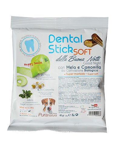 Officinalis Cane Dental Stick della Buonanotte Mela e Camomilla Mini 40 gr per Cane