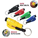 5 Pcs Car Escape Rescue Tool Keychain Glass Breaker Seatbelt Cutter Mini Hammer