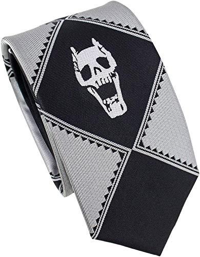H&fashion Kira Yoshikage Cosplay Krawatte Seide Totenkopf Kostüm Krawatte - - Einheitsgröße