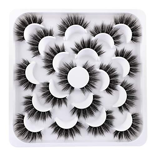 JIMIRE Full False Eyelashes Natural Volume 3D Lashes Pack 10 Pairs