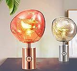 Super Black BullNordic Schlafzimmer Lampe einfache Moderne Mode Studie, Lava Lampe Dekoration Tomdixon Mini Nachttischlampe, Bronze