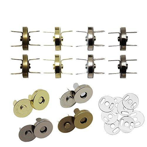 maglia pelle Hysagtek - Set di 40 bottoni magnetici con chiusura a scatto