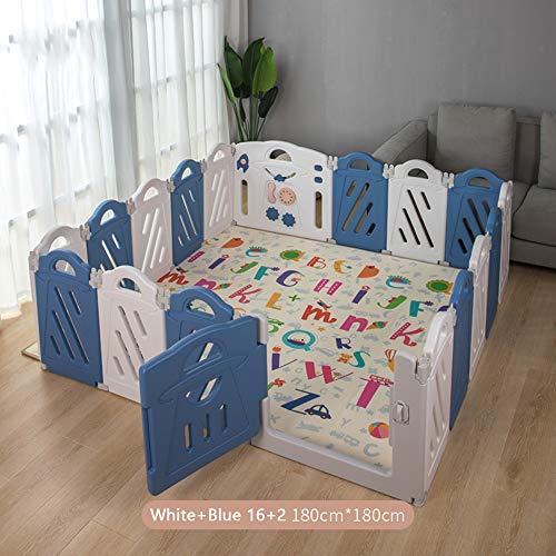 Plastic babybox, sterk en duurzaam opvouwbaar hek met activiteitenpaneel, draagbaar speelcentrum binnenshuis, veiligheidsbarrièrehekwerk voor baby en peuters
