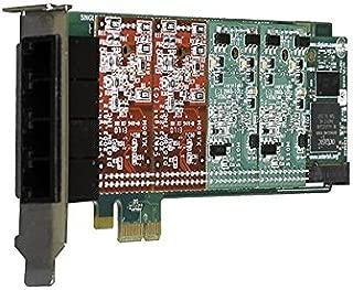 Digium 1A4B03F 4 Port 0-Fxs & 4-Fxo Pci-E Card With Echo Cancellation
