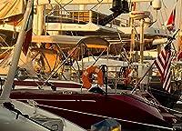 新しいJSCTWCLジグソーパズル大人のための500個-桟橋でのヨット-エンターテインメント木製パズルおもちゃ