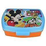 | Mickey Mouse | Sandwichera Para Niños Decorada - Fiambrera Infantil | Caja Para El Almuerzo Y Porta Merienda Para Colegio - Lonchera