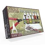 The Army Painter | Hobby Set 2019 | 12 Peintures Acryliques, 3 pinceaux Hobby Brush, Accessoires, Outils et Colle adaptés la Peinture sur Figurine pour Wargames, Jeux de Table et Jeux de Rôle