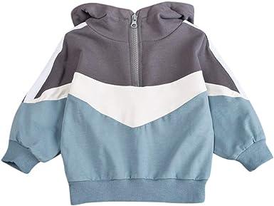 Toddler Kids Boys Fleece Hoodie Sweatshirt Pullover Winter Warm Hooded Tee Tops