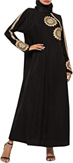 zhruiqun Ropa Mujer Musulmana Vestidos Arabe - Abaya Kaftan Musulmana Caftan Largos Elegantes