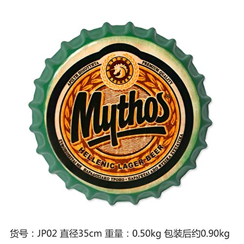Mythos GroßeBier Abdeckung Blechschild Logo Plaque Vintage Metall Malerei Wandaufkleber Eisen Zeichen Bar KTV Shop Dekorative 35X35 cm