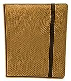 Legion 20 Page Side Loading Pro-Binder: Gold (Dragon-Hide Textured)