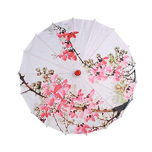 Frauen Regenschirm Japanische Kirschblüten Seide Alter Tanzschirm Dekorativer Regenschirm Chinesischer Stil Öl Papier Regenschirm D-C4