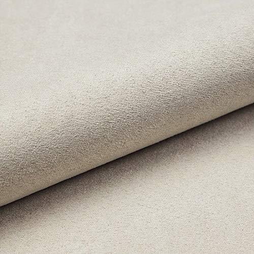 HEKO PANELS Tissus au Metre Ameublement Tissus Suedine au Metre - 100% Polyester Résistant à la Déchirure et aux Rayons UV - Tissus Ameublement pour Fauteuil Sofa Chaise - Sable Blanc