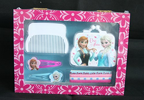 Desconocido Frozen Kids WD16396 Boîte à Bijoux en Bois avec Accessoires pour Cheveux