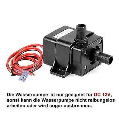 TSSS Brushless Mini pompe à eau 240L/H 4,8W subme réversible amphibisch Aquarium étang cas poisson réservoir Fontaine d'eau Hauteur max (Hub)?: de Divertissement de H 0–3m