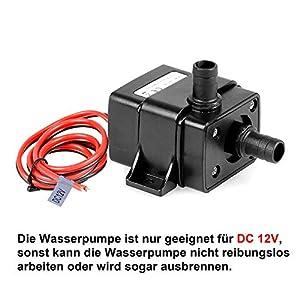 Starvido DC12V-DC24V Sumpfpumpen Micro-DC-Wasserpumpe mit Gro/ßem Druck Tragbare Leistung Wasserpumpen Aquariumwasserpumpen Tauchpumpe
