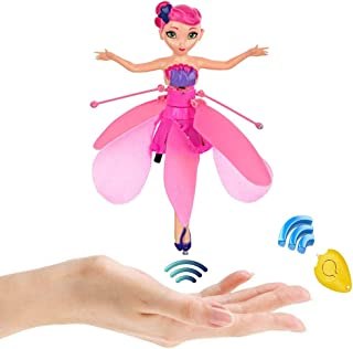 CJWPOWER Flying Fairy Doll - Infrared Induction and Remote Control Toys- Magic and Best Gift for 6 Year Old Girl Toy(Flying Fairy)