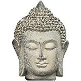 XDYFF Estatua Cabeza de Buda Decoracion, Escultura De Meditación para Casa, Oficina, Escritorio Yoga Feng Shui Religión Adornos,Azul