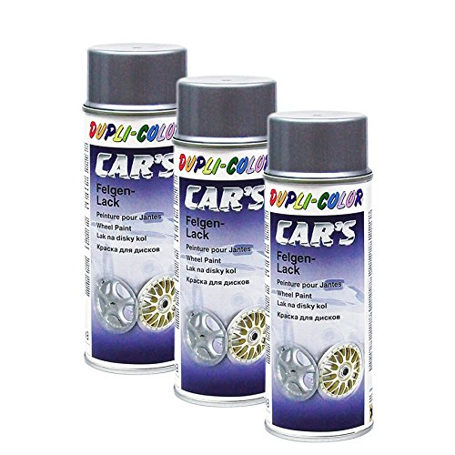 DUPLI_bundle 3X Dupli-Color Cars Felgen Lack Alu Felgensilber 400 ml 385919