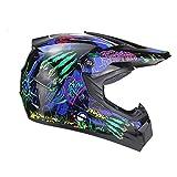 Herren Vollgesichtsmotorradhelm Stoßfeste atmungsaktive Motorradhelme Outdoor Karting Fahrradkappe Moto Zubehör