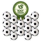 Wanxida 20 Pezzi Palline da Biliardino, 32 mm Calcio Balilla Stile Calcio Classico Bianco & Nero di plastica Palle Ricambio per Accessorio Gioco tavola biliardino