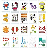 20 Sheets 3D Printer Drawing Paper,40 Patterns and a Clear Plate Set Drawing Molds Paper Stencils for 3D Pen Kids DIY Gift Present