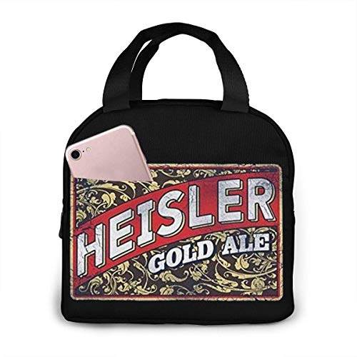 Lunchtasche Heisler Bier Isoliert Langlebig Lunch Box Tote Bag Kühltasche für Arbeit Schule Picknick Reise Strand