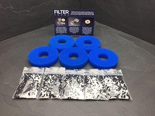 5 x compatibile con Biorb Marine Service Kit Ricariche Set di filtri per tutti i serbatoi