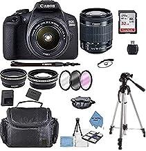 Canon EOS 2000D Rebel T7 Kit con lente EF-S 0.709-2.165in f/3.5-5.6 III + paquete de accesorios + paño TopKnotch Ofertas