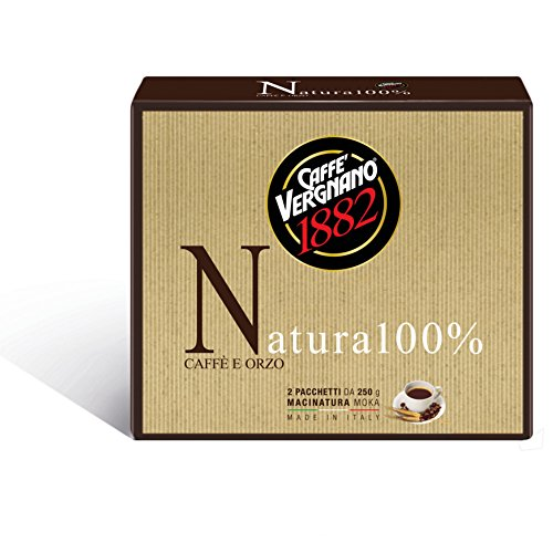 Caffè Vergnano 1882 Caffè Macinato Natura 100% - 8 confezioni da 500 gr (totale 4 Kg)