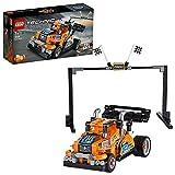 LEGO Technic, Le camion de course vers voiture de course, Modèle 2in1, Moteur à rétrofriction, Collection de véhicules de course, 93 pièces, 42104