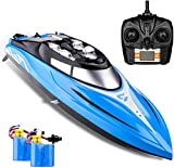 SkyCo Rc Boat 2.4GHz High Speed Remote Control Electric RC Racing Boats Toy for Kids Men Girls Adults Pool Lake Outdoor Use Bonus Extra Battery
