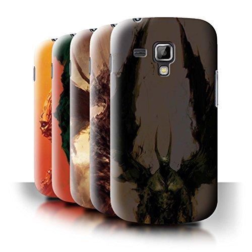 Oficial Chris Cold Carcasa/Funda/Case dura para el Samsung Galaxy Trend Plus/S7580 / serie: Criaturas Salvajes - 6pcs Paquete