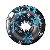 Syfinee Snow Tube for Winter Fun Inflatable 47 Inch Heavy Duty Snow Sleds Skiing Supplies Inflatable Heavy Duty Snow Sleds for Kids and Adults, Sturdy Sledding Tubes, Easy to Grip Handles