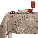 Centesimo Web Shop TOVAGLIA Cucina Cotone in 4 Misure con TOVAGLIOLI Fiori Beige 6 12 16 POSTI 667-140x180 cm Beige